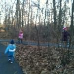 on JFK forest path