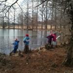 near the stocked ponds